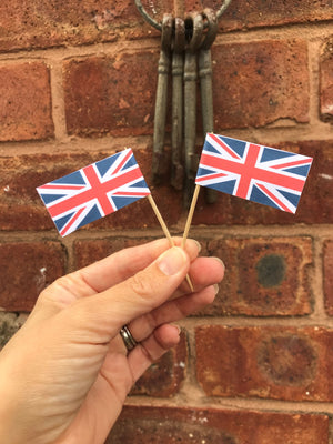 Printable Union Jack Cake Pick