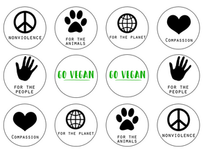 Vegan slogan edible cupcake toppers