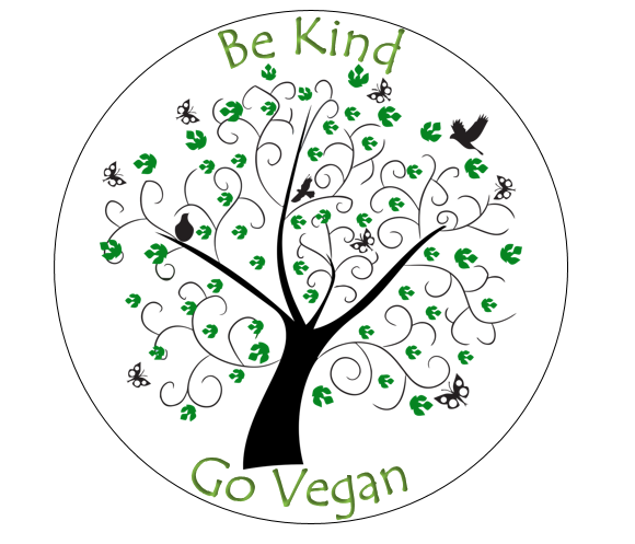 Be Kind, Go Vegan Cake & Cupcake Toppers