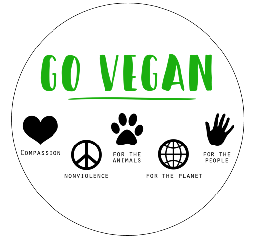 Go Vegan For... Cupcake Toppers