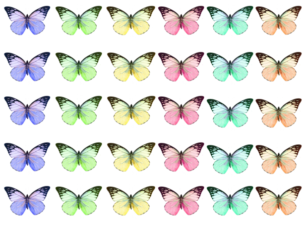 Mixed pastel edible wafer butterflies