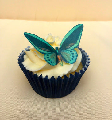 Edible Butterfly UK | Brown and Blue Wafer Butterfly