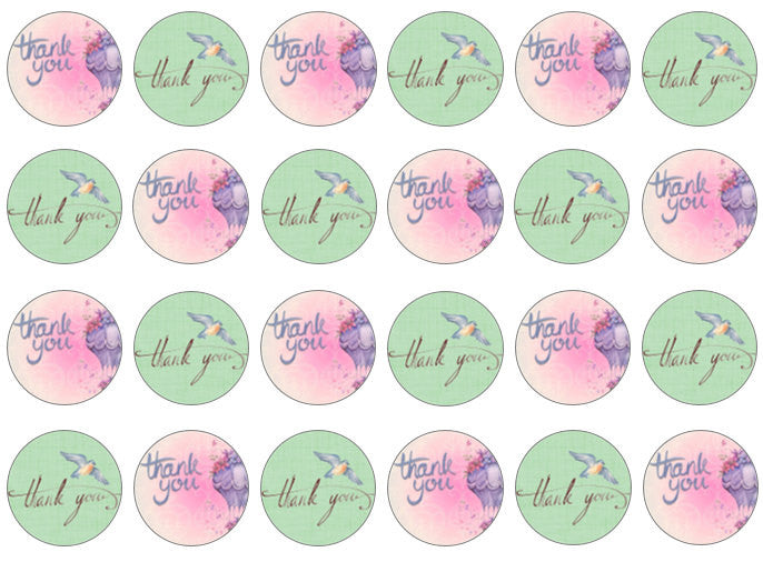 Thank You Cupcake Toppers | Thank You Gift | Set of 24