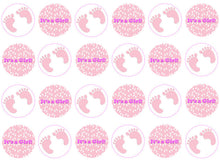 It's A Girl Cupcake Toppers | New Baby Gift | Set of 24