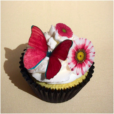 Edible Butterflies & Flowers Toppers