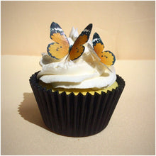 Orange edible wafer butterflies