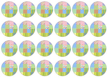 Patchwork Cake Toppers | Set of 24
