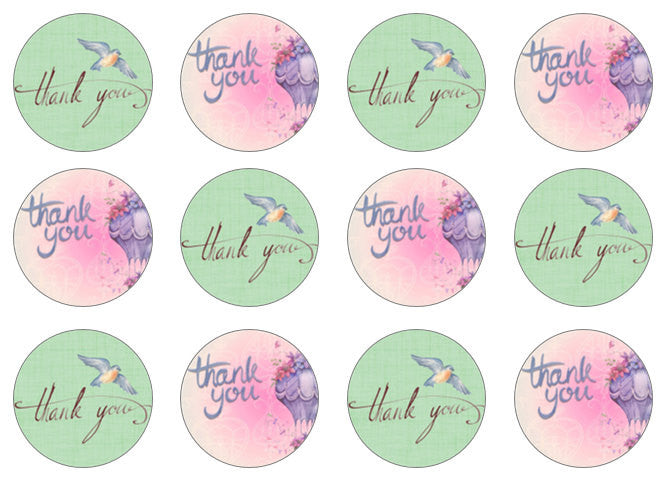 Thank You Cupcake Toppers | Thank You Gift | Set of 12