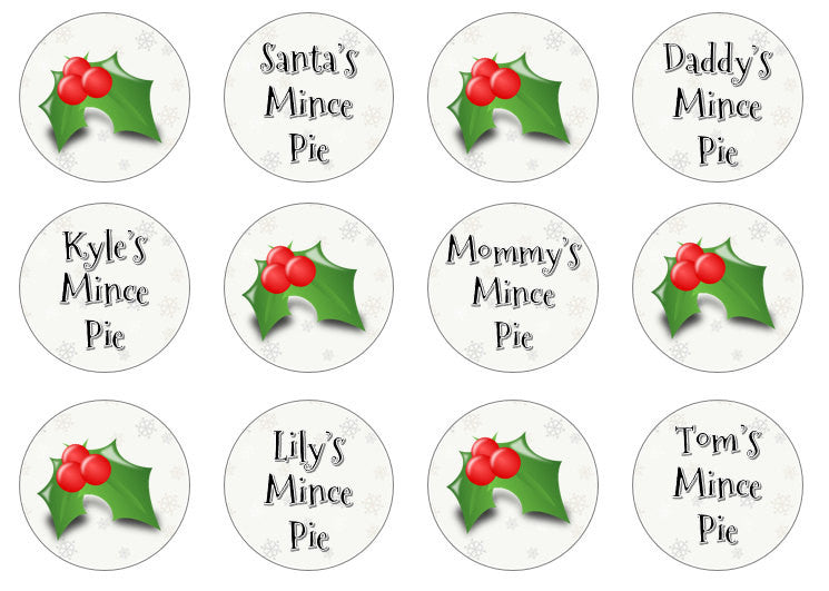Christmas Eve Cupcake Toppers | Edible Santa's Mince Pie Toppers