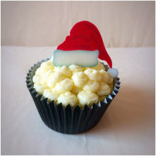 Edible Christmas Cupcake Toppers | Edible Santa Hats