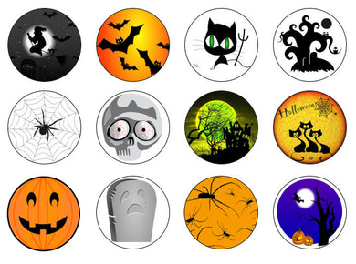 Spooky Cupcake Toppers | Halloween Edible Cupcake Toppers