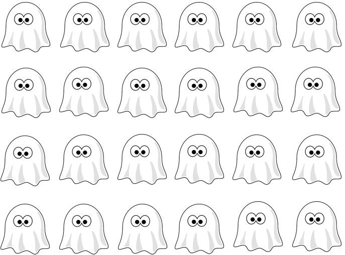 Ghost Edible Cupcake Toppers | Halloween Cake Decorations