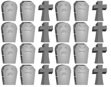 Gravestones Cupcake Toppers | Tombstone Cake Decorations | Halloween