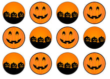 Pumpkins Edible Cupcake Toppers | Set of 12