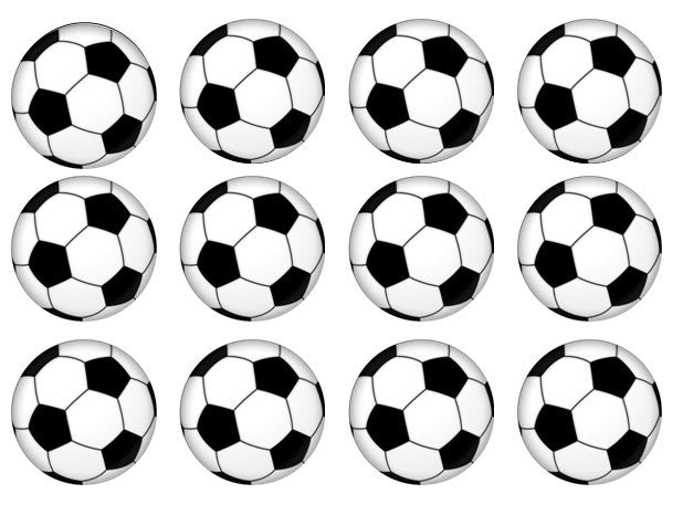 Football Cupcake Toppers | Edible Wafer Cake Toppers ...