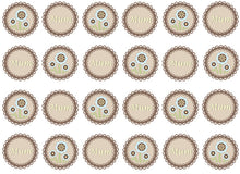Mother's Day Doily Cupcake Toppers | Set of 24