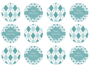 blue and white | edible wafer toppers