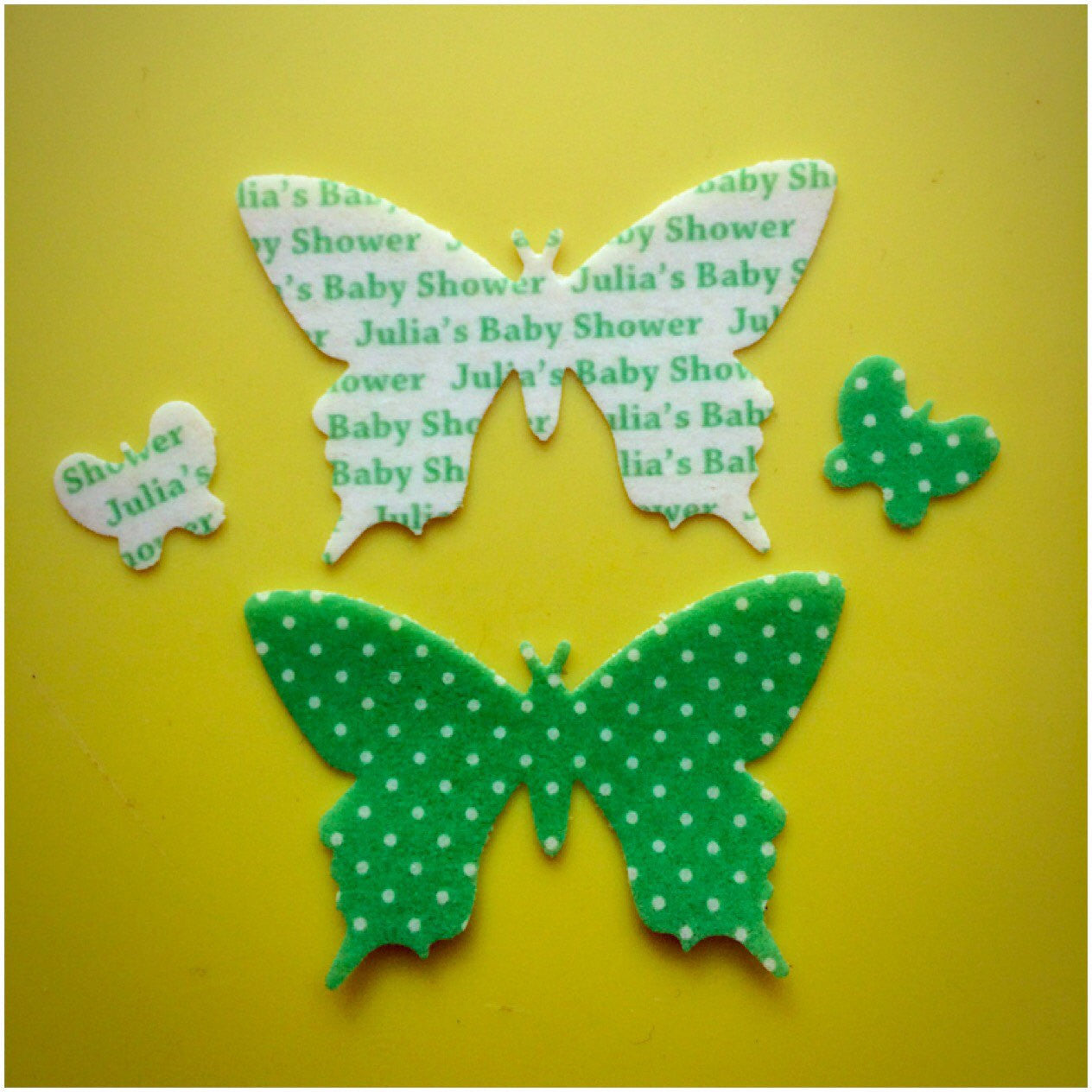Christening Cake Topper Butterfly