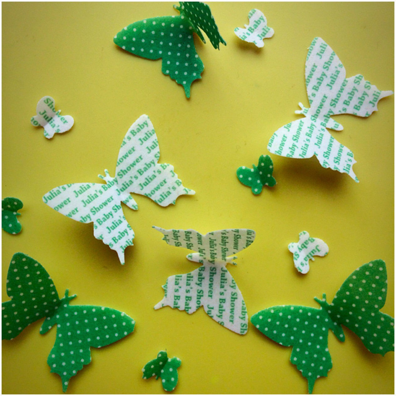Edible Butterflies with Custom Text