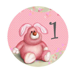 Girls 1st Birthday | Pink Cupcake Toppers | Rabbit Cake Toppers