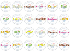 logo edible cupcake toppers | Set of 24