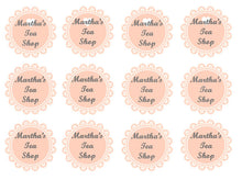 Vintage Doily Toppers | Pink Tea Party Cake Toppers | Afternoon Tea