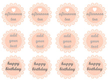 Pink Tea Party Cake Toppers | Edible Wafer Toppers