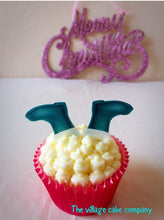 Edible Christmas Cupcake Toppers | Edible Santa Boots