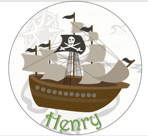 Pirate Cake Topper | Custom Pirate Ship Topper | Pirate Theme