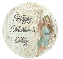 Vintage Style Edible Cupcake Toppers | Mother's Day Wafer Cake Toppers