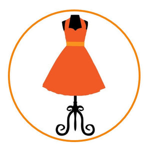 Orange dress cupcake toppers