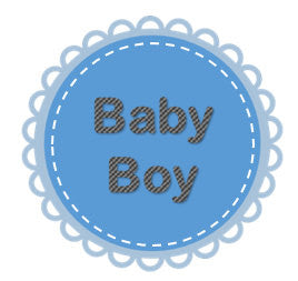 blue and grey baby boy edible cupcake topper