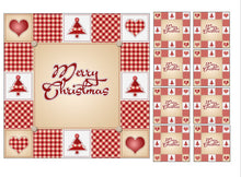 Patchwork Christmas Cake Topper Sets