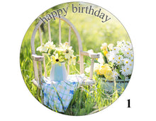 Happy birthday large cake topper print