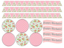 Vintage Edible Bunting Set | Edible Bunting Flags | Edible Wafer Paper