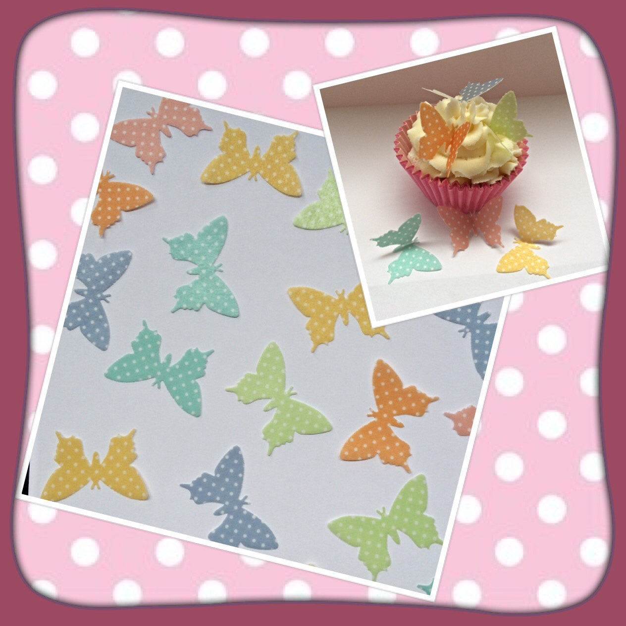 Edible butterflies for cupcakes uk