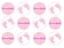 It's A Girl Cupcake Toppers | New Baby Gift | Christening Cake Toppers
