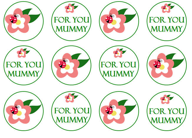 For You Mummy Cupcake Toppers | Set of 12