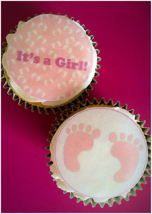 Edible Cupcake Toppers | New Parent Edible Gift | Wafer Toppers UK