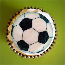Football Cupcake Toppers | Edible Wafer Cake Toppers | Football Gift