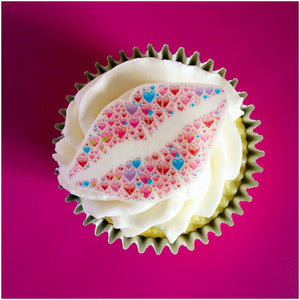Edible Valentine Gift Uk | Lips Cupcake Topper