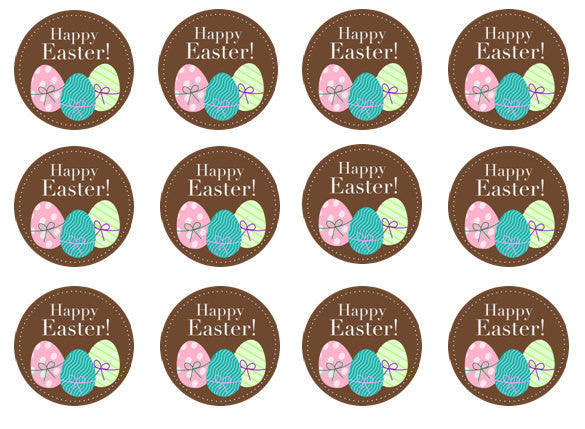 Easter Egg Cupcake Toppers | Set of 12