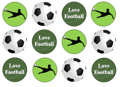 Love Football Edible Cupcake Toppers