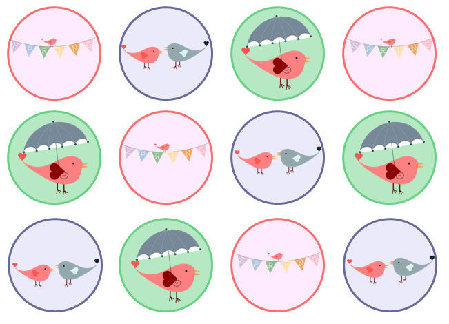 Easter Cupcake Toppers | Set of 12