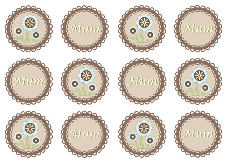Mother's Day Doily Cupcake Toppers | Set of 12