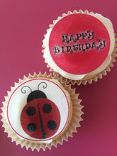 Bright Ladybird Cupcake Toppers