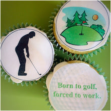 edible cupcake toppers | golf cake toppers