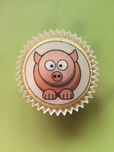 Farm Animal Cake Toppers | Pig Cupcake