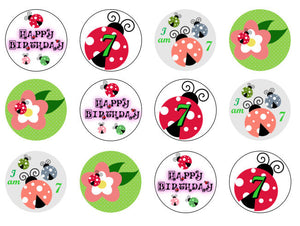 Ladybird Cupcake Toppers | Edible Ladybird | Wafer Cake Toppers