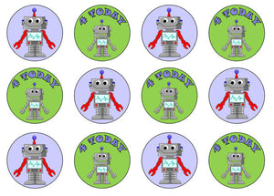 Robot Cupcake Toppers | Robot Party | Edible Robot Decorations